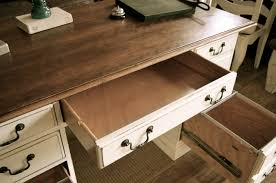 White Distressed Desk by Distressed Off White Executive Desk The Workshop