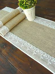 Burlap Lace Table Runner Burlap And Lace Table Runner Promo Time
