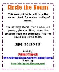 108 best special ed nouns images on pinterest nouns and verbs