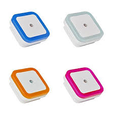 nursery ls with night lights plug in led night light with smart dusk to dawn sensor colorful
