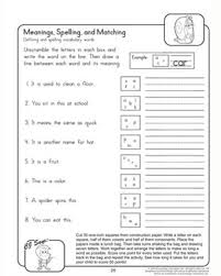 meanings spellings and matching u2013 printable 2nd grade english