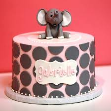 order birthday cake elephant polka dot birthday cake