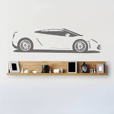 gallardo sports car vinyl wall sticker by oakdene designs gallardo sports car vinyl wall sticker