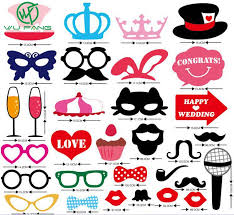 Wedding Photo Booth Props Mustache On A Stick Wedding Party Photo Booth Props Photobooth