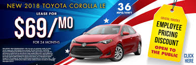toyota deals now crystal toyota green brook toyota dealership