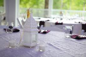 simple white lantern wedding centerpieces