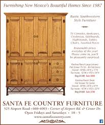 entertainment page for santa fe country furniture santa fe