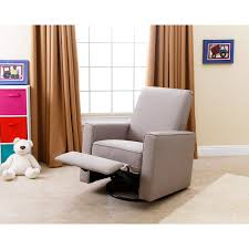 swivel glider chairs living room abbyson hampton fabric swivel glider recliner taupe hayneedle