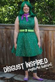 inside out costumes inside out disgust costume no sew tutorial