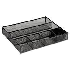 3 Drawer Desk Organizer by Rolodex Deep Desk Drawer Organizer Metal Mesh Black Walmart Com