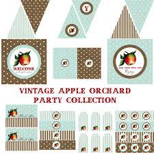 Vintage Birthday Decorations Vintage Apple Birthday Apple Baby Shower Apple Birthday