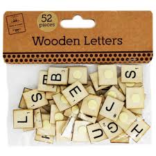 wooden scrabble letters pack of 52 card making u0026 craft