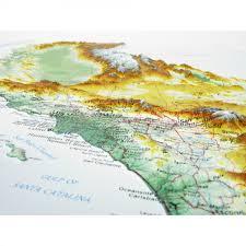 Relief Map 951 California Raised Relief Map