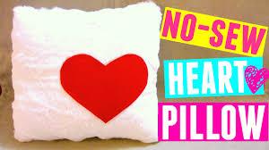 diy no sew heart pillow diy valentine u0027s day gift youtube