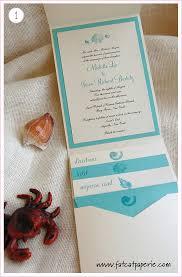 themed invitations sea themed invitations cat paperie custom wedding invitations