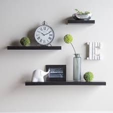 Wooden Wall Shelves White Floating Shelves On White Wall Design Interior Marvelous
