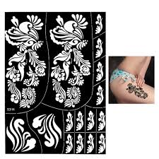 large henna stencil flower design diy airbrush body art tattoo