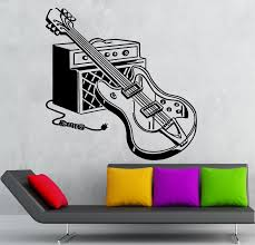 wall decals stickers home decor home furniture diy wall stickers vinyl decal electric guitar music musical instrument rock ig1861