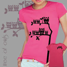 owl tree t shirt design sizes s xl any color by