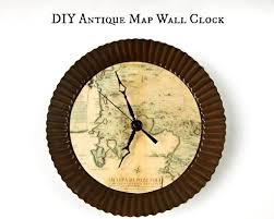themed clock make a map themed wall clock morena s corner