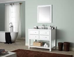avanity brooks single 43 inch transitional bathroom vanity white