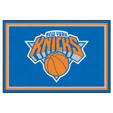 Area Rugs Nyc Fanmats New York Knicks 5 Ft X 8 Ft Area Rug 9355 The Home Depot
