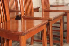 Style Chairs Sold Mackintosh Style High Back Teak Dining Chairs Vintage Circa 1980
