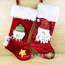 king gold velvet three dimensional socks santa claus christmas