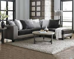 furniture grey sectional sofa with brown wooden floor and small