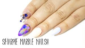 how to sharpie marble nails youtube