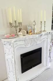 Shabby Chic Fireplaces by Faux Fireplace Camino Finto Shabby Chic Con Camino Elettrico