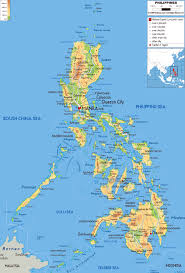 Physical Map Of Central America by Maps Of Philippines Detailed Map Of Philippines In English