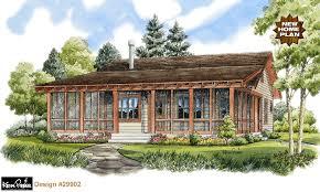 Bunkhouse Lodge Cabin Home Plan at Design Basics