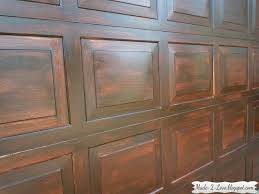 garage door gel stain garage door made to love diy faux wooden