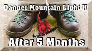 mountain light mojave brawler danner mt light ii after 5 months youtube