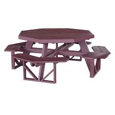 Free Octagon Picnic Table Plans With Umbrella Hole by Luxcraft Crestville Octagon Picnic Table Luxcraft