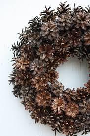 pinecone wreath natural door wreath rustic pinecone