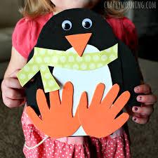 Hand Crafts For Kids To Make - handprint penguin craft for kids to make crafty morning