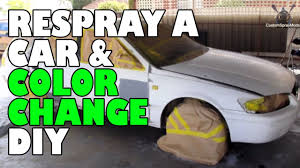 respray a car and color change diy youtube