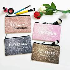 bridesmaids bags personalized cosmetic bag bridesmaid gift bridesmaid makeup bag