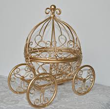 carriage centerpiece gold wire cinderella carriage fairytale wedding