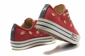 American Flag Shoes Red Converse All Star American Flag Low Tops Schuhe Ragged