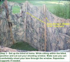 Stand Up Hunting Blinds Free Deer Hunting Ground Blind Plans