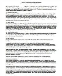 contract manufacturing agreement pdf compromise agreements