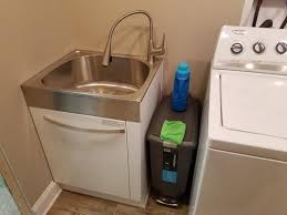 Laundry Utility Sink With Cabinet by Presenza All In One 24 2 In X 21 3 In X 33 8 In Stainless Steel