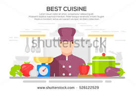 cuisine concept best cuisine concept illustration chief cook เวกเตอร สต อก 526122529