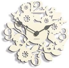 jones bliss floral contemporary cream wall clock departments