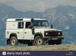 white land rover white land rover defender 110 station wagon td5 in the austrian