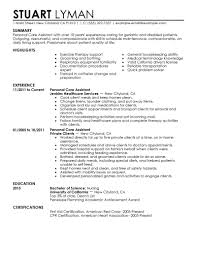 Maintenance Job Resume by Best Personal Care Assistant Resume Example Livecareer