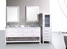 Modern Bathroom Vanity Sets by Adorna 72 Inch Double Sink Bathroom Vanity Set In Pearl White